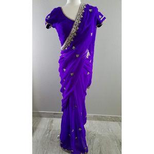 Dresses & Skirts - GORGEOUS Purple Formal Sari Saree - Sz 34